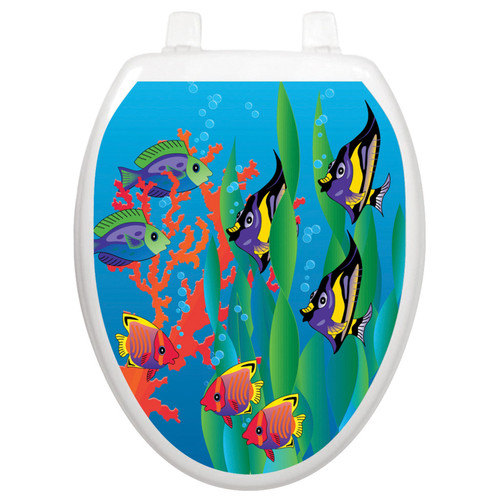Toilet Tattoos Under The Sea - Oval