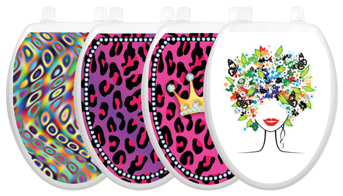 Toilet Tattoos Whimsical 4 Pack