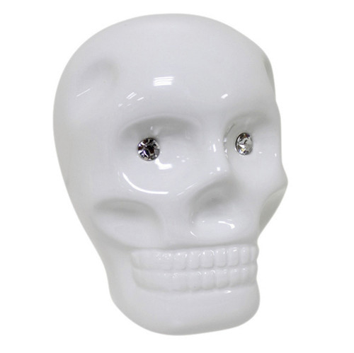 Ceramic Skull Moneybox White
