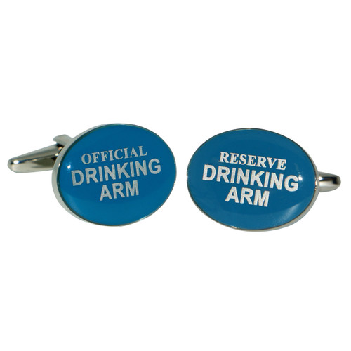 Blue Drinking Arm Cufflinks