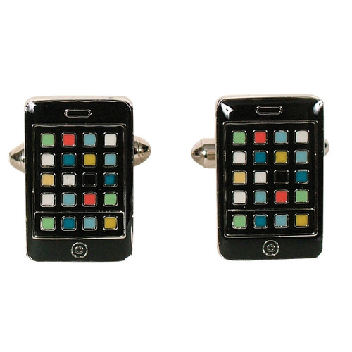 iPhone Cufflinks Black