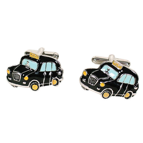 London Taxi Cufflinks Black