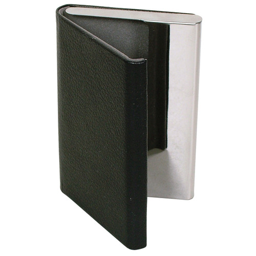 Plain Black Card Case with Magnetic Latch