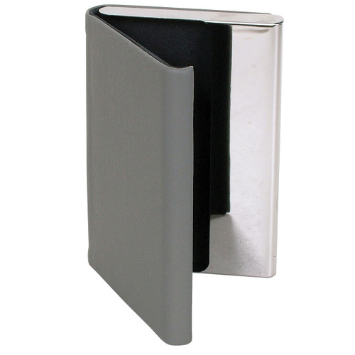 Plain Grey Card Case with Magnetic Latch