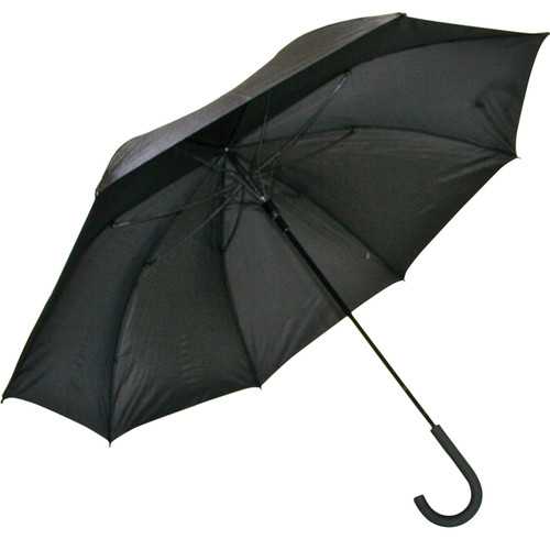 Mens Crook Handle Umbrella Black