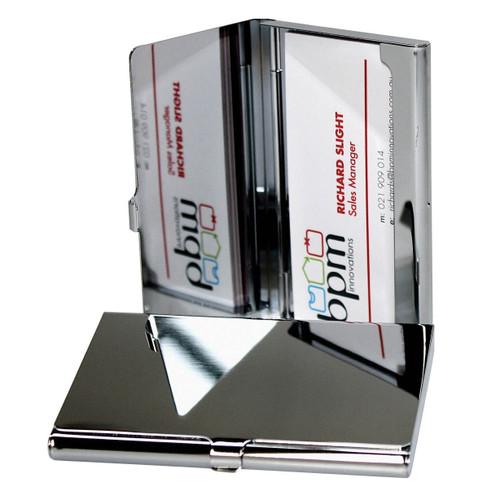 Metal Card Case Chrome
