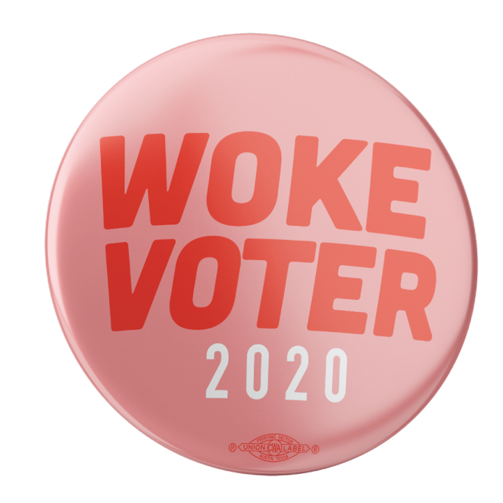 "Woke Voter (2.25"" Mylar Button -- Pack Of Two!)"