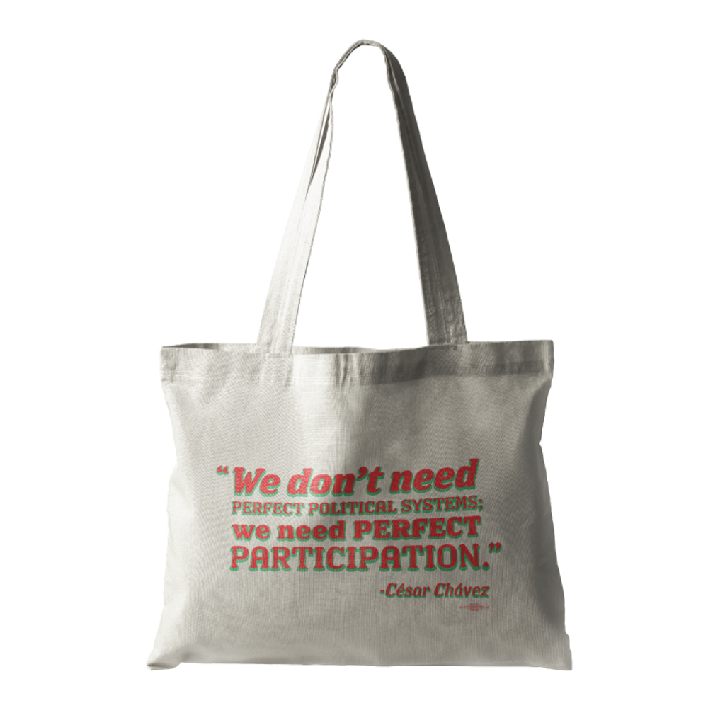 """Perfect Participation"" (Natural Canvas Tote)"