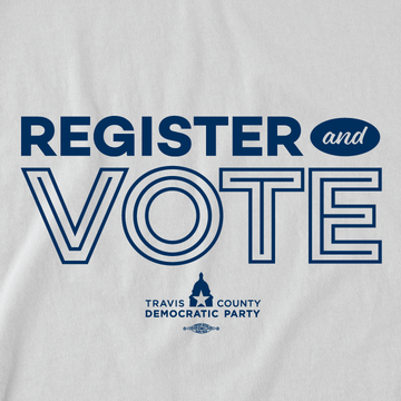 Register And Vote (White/Navy Raglan Tee)