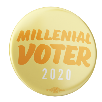 "Millenial Voter (2.25"" Mylar Button -- Pack Of Two!)"