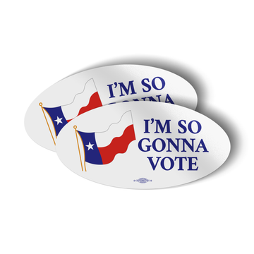 "I'm So Gonna Vote (5.5"" x 2.75"" Vinyl Sticker -- Pack of Two!)"
