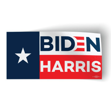 "Biden Harris - Flag (6"" x 3"" Vinyl Sticker -- Pack of Two)"