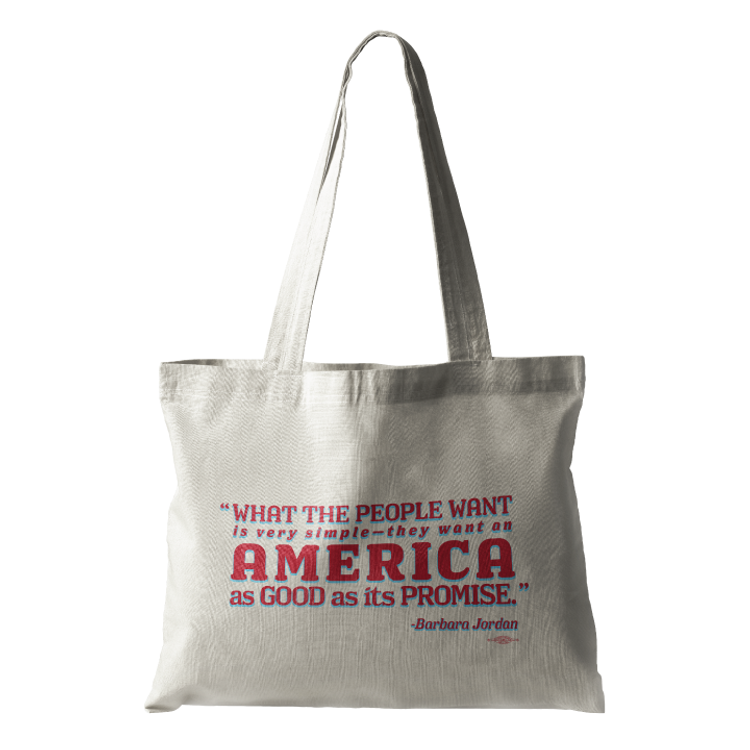 """What The People Want..."" (Natural Canvas Tote)"