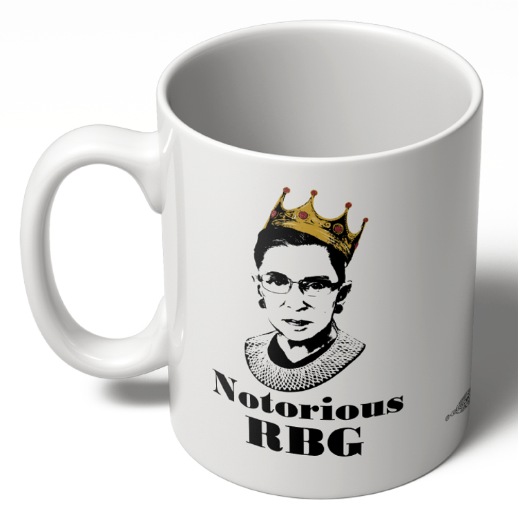 Notorious RBG - White Colorway  (11oz. Coffee Mug)