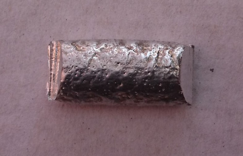 Cadmium metal 10 gram sample.  Element 48  FREE POSTAGE