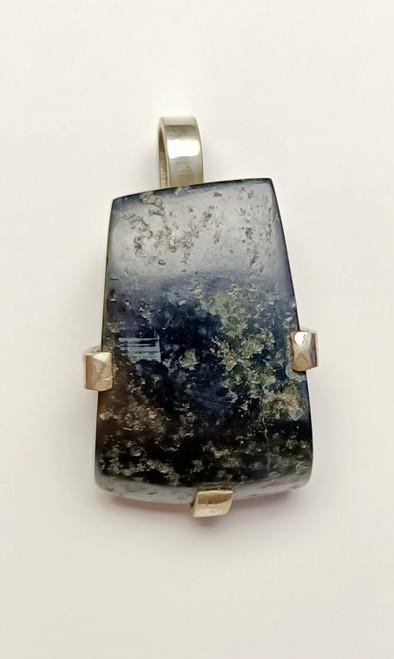 Vivianite, Silver  Pendant