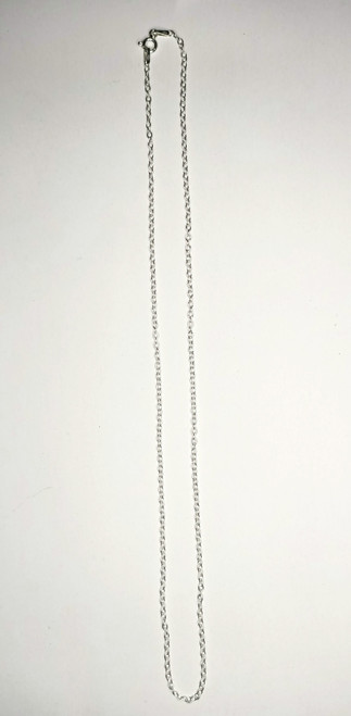 Sterling Silver cable Chain 45cm