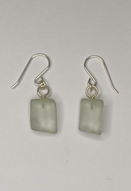 Light Aqua green Glass Earrings