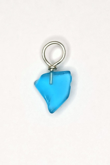'Electric' Blue Glass Pendant