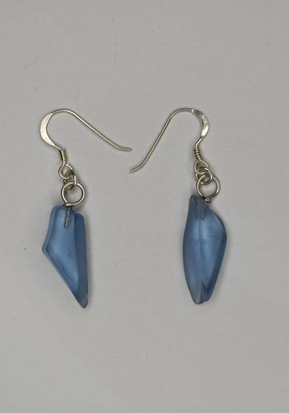 Cornflower Blue Glass Earrings