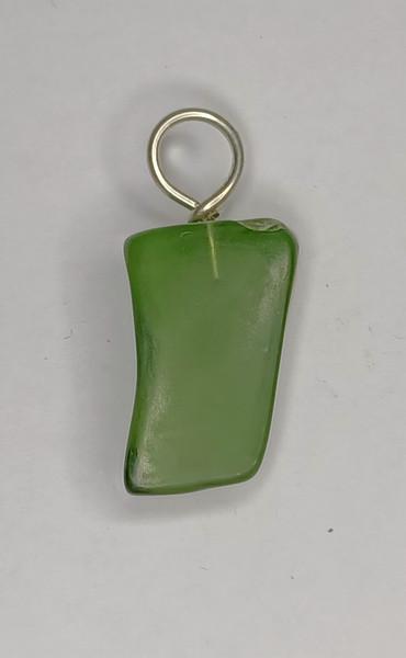 Darker Bottle Green Glass Pendant.
