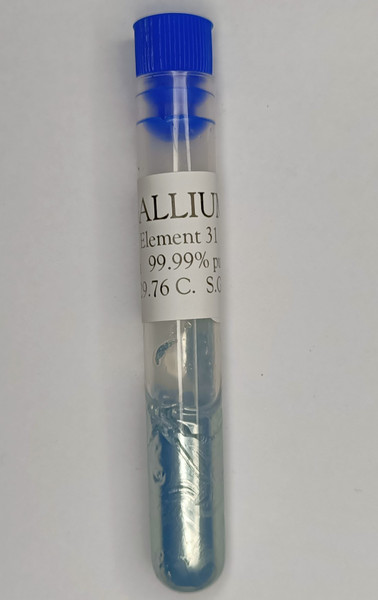Gallium metal, 99.99% pure. 10 Grams, Element 31