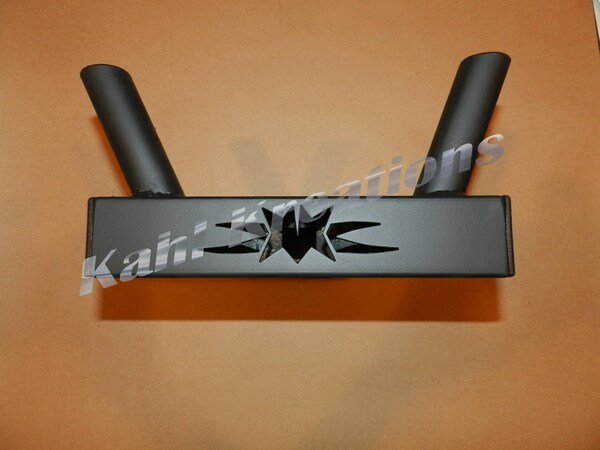 DOUBLE FLAG POLE HOLDER TRAILER HITCH COVER