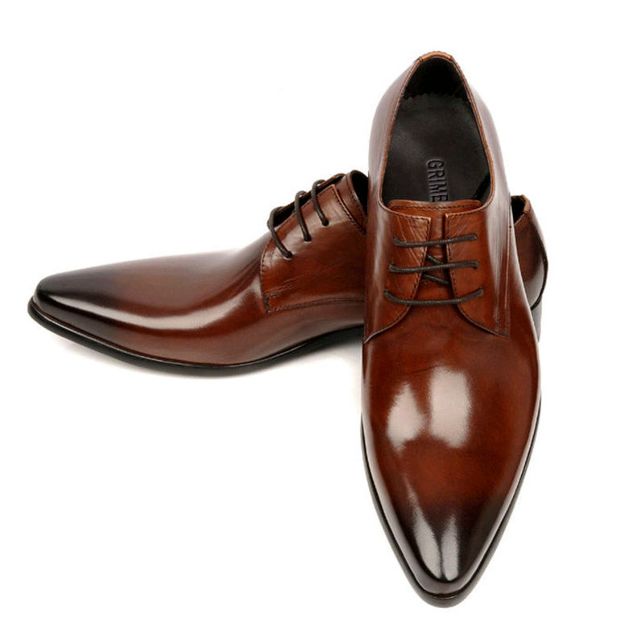 9ac25d90d80a Classic Men's Formal Derby Leather Dress Shoes