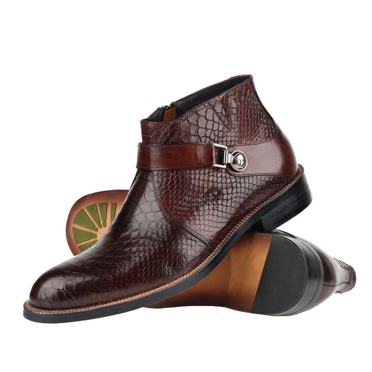 273245ca9a6 Fashion Mens Luxury Genuine Leather Dress Ankle Boots