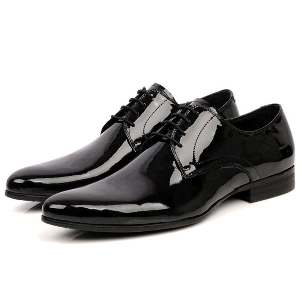 b770f7a0dc Mens Black Patent Leather Shoes | Men's Tuxedo Shoes For Wedding