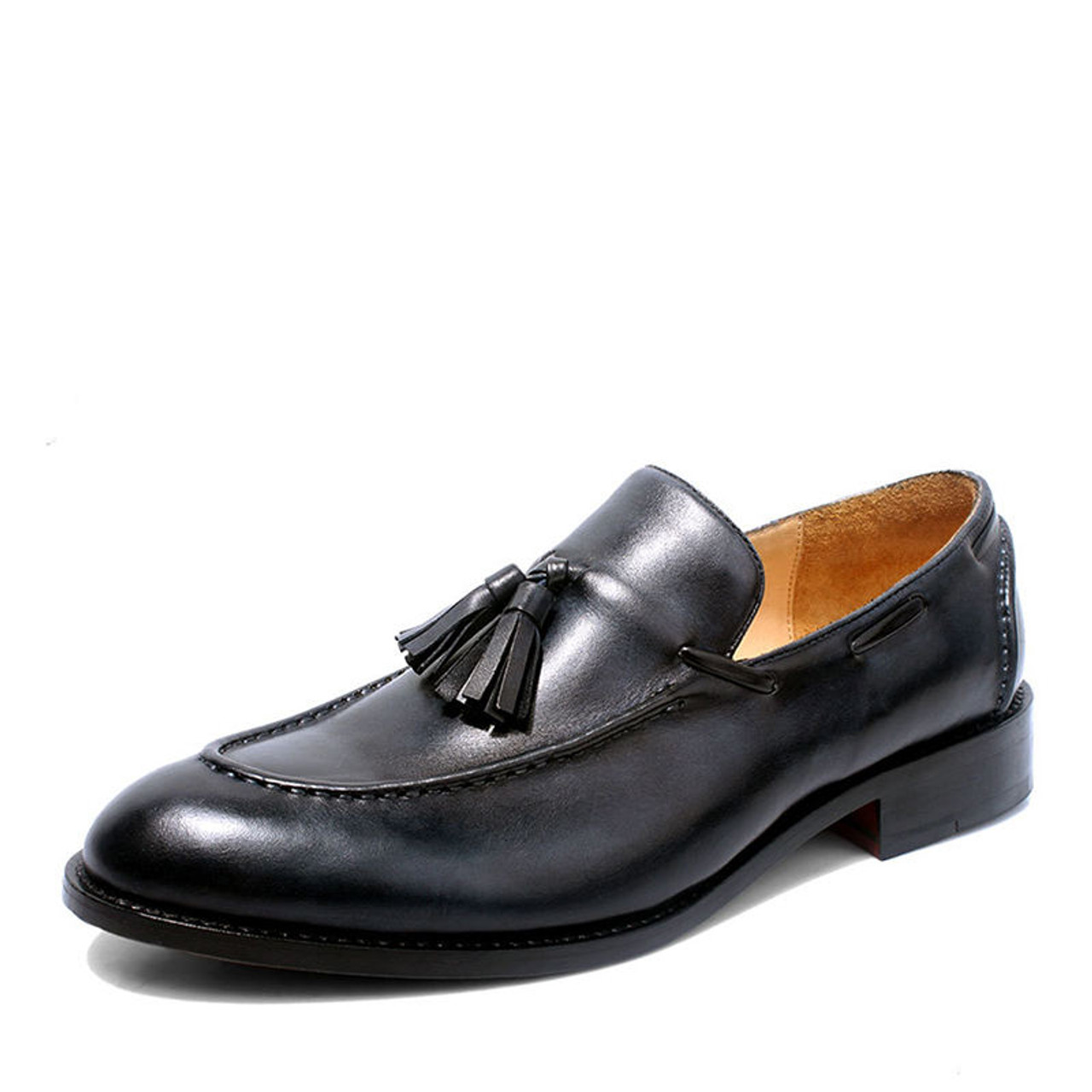 e4e5adef91 GRIMENTIN Customized luxury tassel casual men loafers genuine leather slip  on