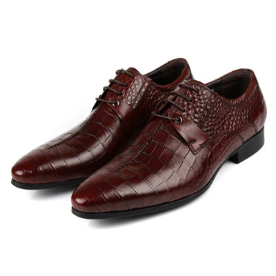 ace8afe929 Italian Mens Wedding Leather Derby Dress Shoes
