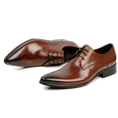 Pointed toe men dress shoes