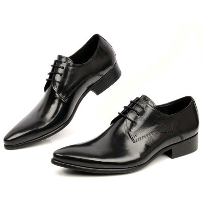 Men dress shoes black
