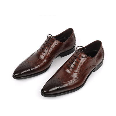 Brown oxford shoes for men