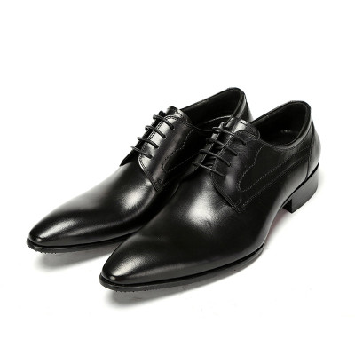 Mens pointed toe dress shoes black