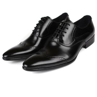 56af9c6cf8 Mens Black Brogue Shoes Sale Online | Fashion Black Oxford Dress ...