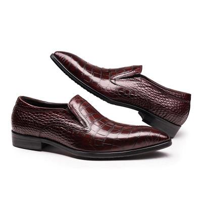 Brown slip on men's shoes