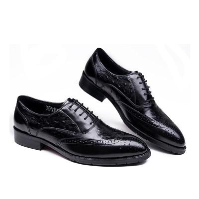 Men oxford shoes brogue black