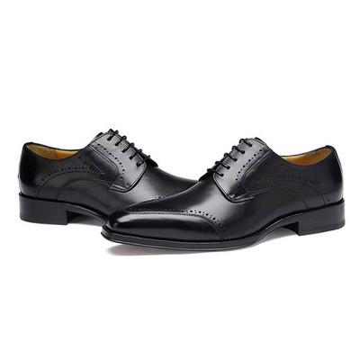 Custom men's dress shoes black