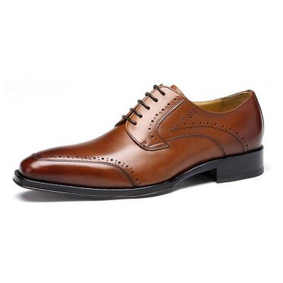 Custom men's dress shoes brown