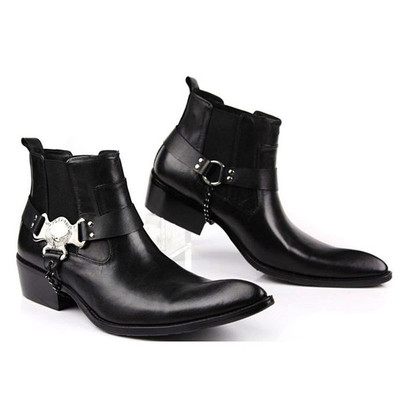 Mens leather boots fashion