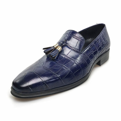 4384ad632410 ... Mens dress shoes in blue ...