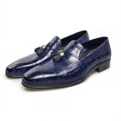 Mens blue dress shoes