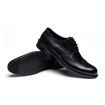 GRIMENTIN Black Shoes for Men,Genuine Leather