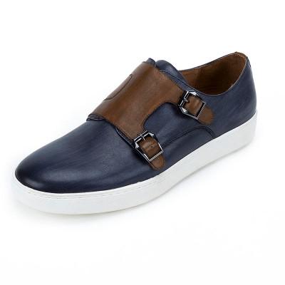 GRIMENTIN genuine leather buckle mens dress shoes