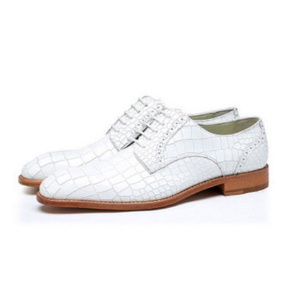 Derby Shoes Men Genuine Cow Leather