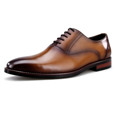 Fashion leather dress shoes for men