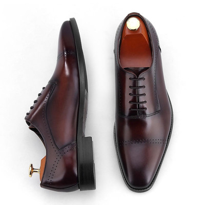 Cap toe oxfords shoes for men