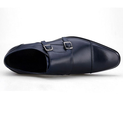 Classic  men monk strap leather shoes